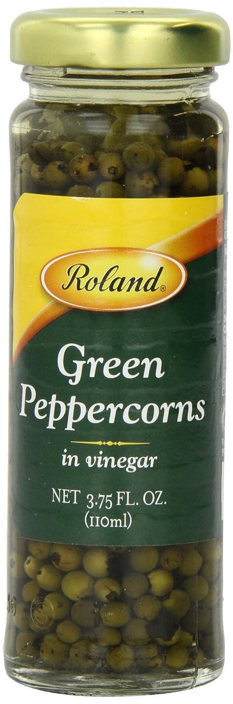 Roland Peppercorns, Green in Vinegar, 3.75 Ounce (Pack of 6)