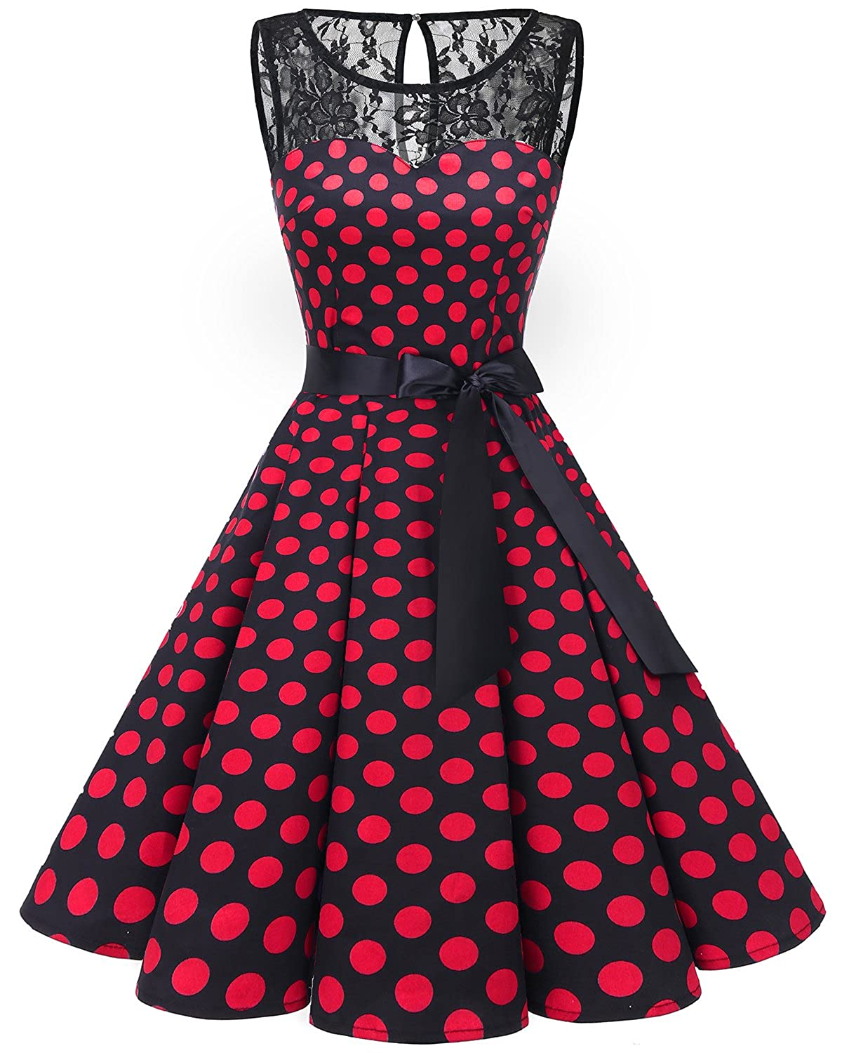 abbd2c631d49 Bbonlinedress Women's 1950s Vintage Rockabilly Swing Dress Lace Cocktail  Prom Party Dress at Amazon Women's Clothing store: