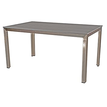 Table de jardin en polywood terrasse Table Bois 150 x 90 cm ...