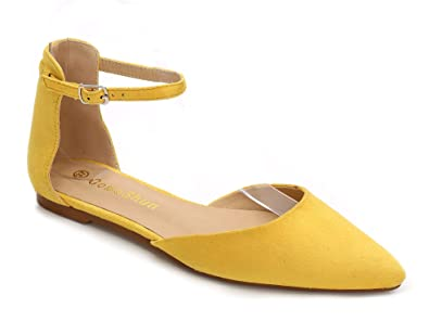 707e34ca78 ComeShun Womens Yellow Sexy D'Orsay Classic Slip On Pumps Shoes Size ...