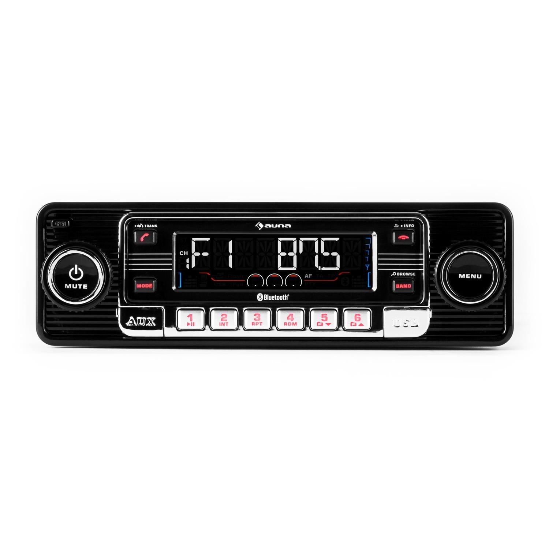 auna RMD-Sender-Two • Autoradio • Car-Radio • Car-HiFi-Set • Bluetooth-Schnittstelle • USB-Slot • SD/MMC-Slot • UKW-Radiotuner • MP3 • 3, 5mm-Klinke-AUX-Eingang • Stereo-Cinch-Line-Ausgang • Freisprech