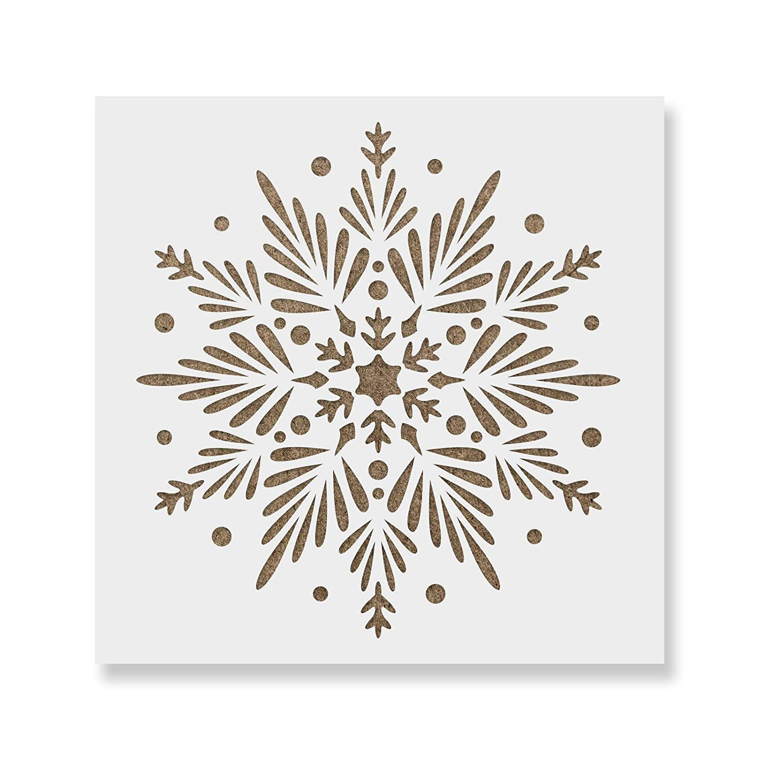 Snowflake Stencil Template - Reusable Stencil with Multiple Sizes Available Stencil Revolution