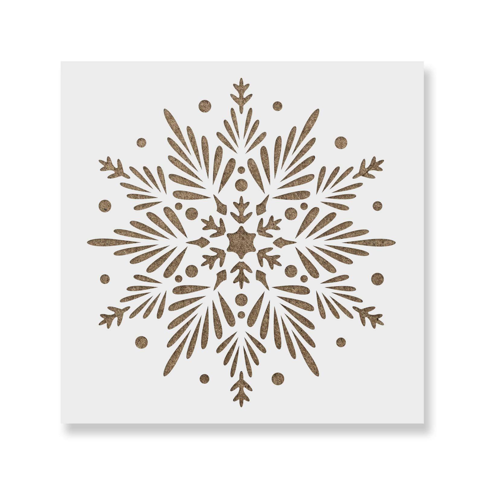 Snowflake Stencil - Reusable & Durable Mylar Stencils Made in USA by Stencil Revolution