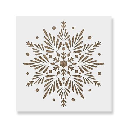 amazon com snowflake stencil template reusable winter christmas