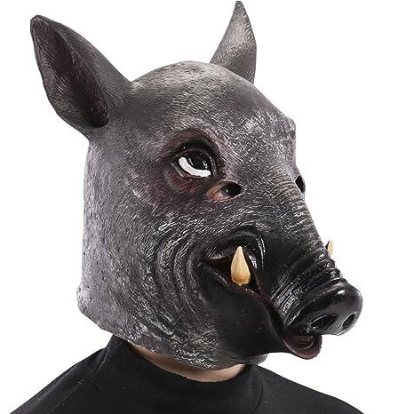 Carnival Toys 1495 Máscara jabalí, color marrón, talla única