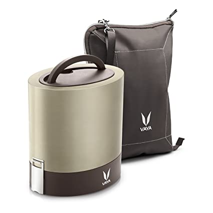 Buy Vaya Tyffyn 1000 Ml Polished Stainless Steel Lunch Box With