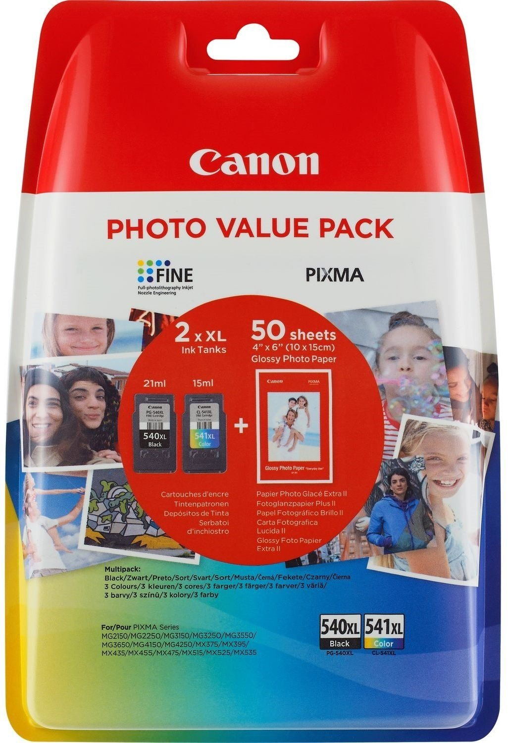 Canon PG-540XL+CL-541XL Cartucho de tinta original BK XL+Tricolor ...