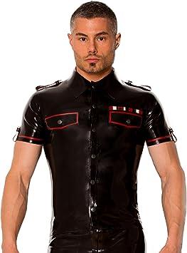 Piel Dos ropa camisa de sexy para hombre estilo ejército ...