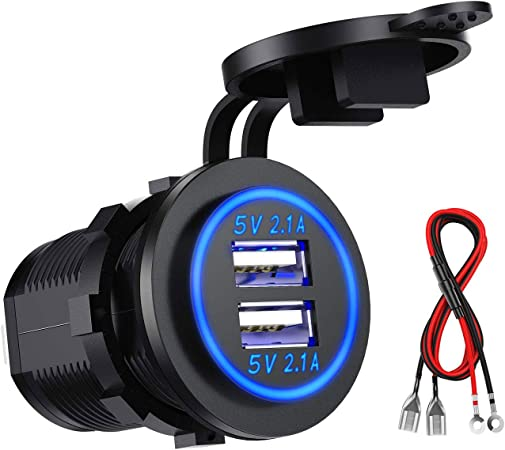 Kibon Car Usb Socket Car Charger Socket 12v Elektronik