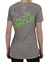 Under Armour Women's UA Script Undeniable V-Neck Tops, Charcoal, Medium