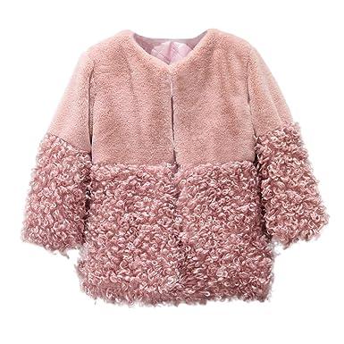 fedcb218f8cad Amazon.com: Hatoys Cute Baby Girls Fur Hoodie Winter Warm Coat ...