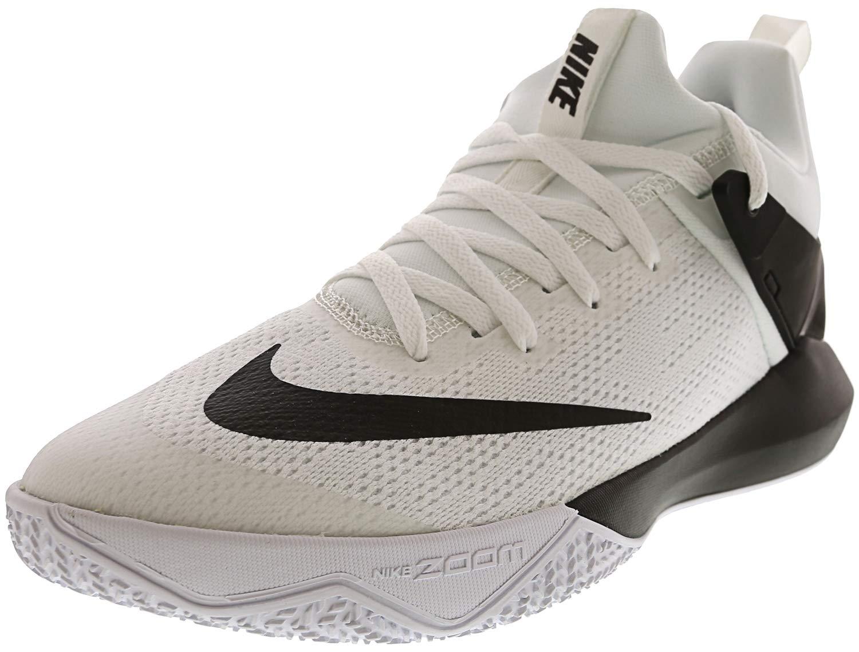 3858cfbabefb Galleon - Nike Men s Zoom Shift White Black Nylon Basketball Shoes 11 M US