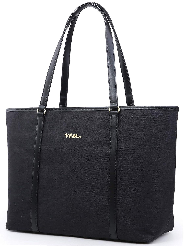 NNEE Water Resistance Nylon Travel Work Tote Shoulder Bag with Multi Pocket Design