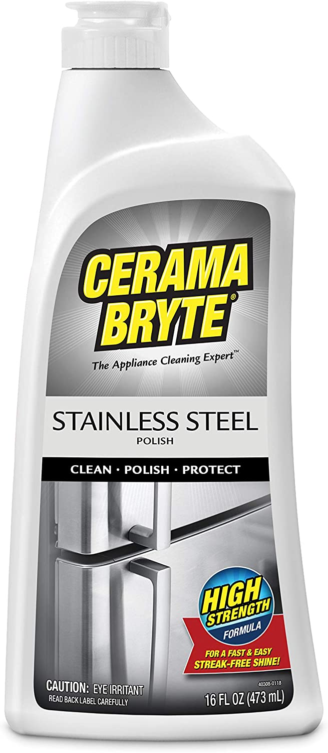 Cerama Bryte Protective Stainless Steel Cleaning Polish with Mineral Oil