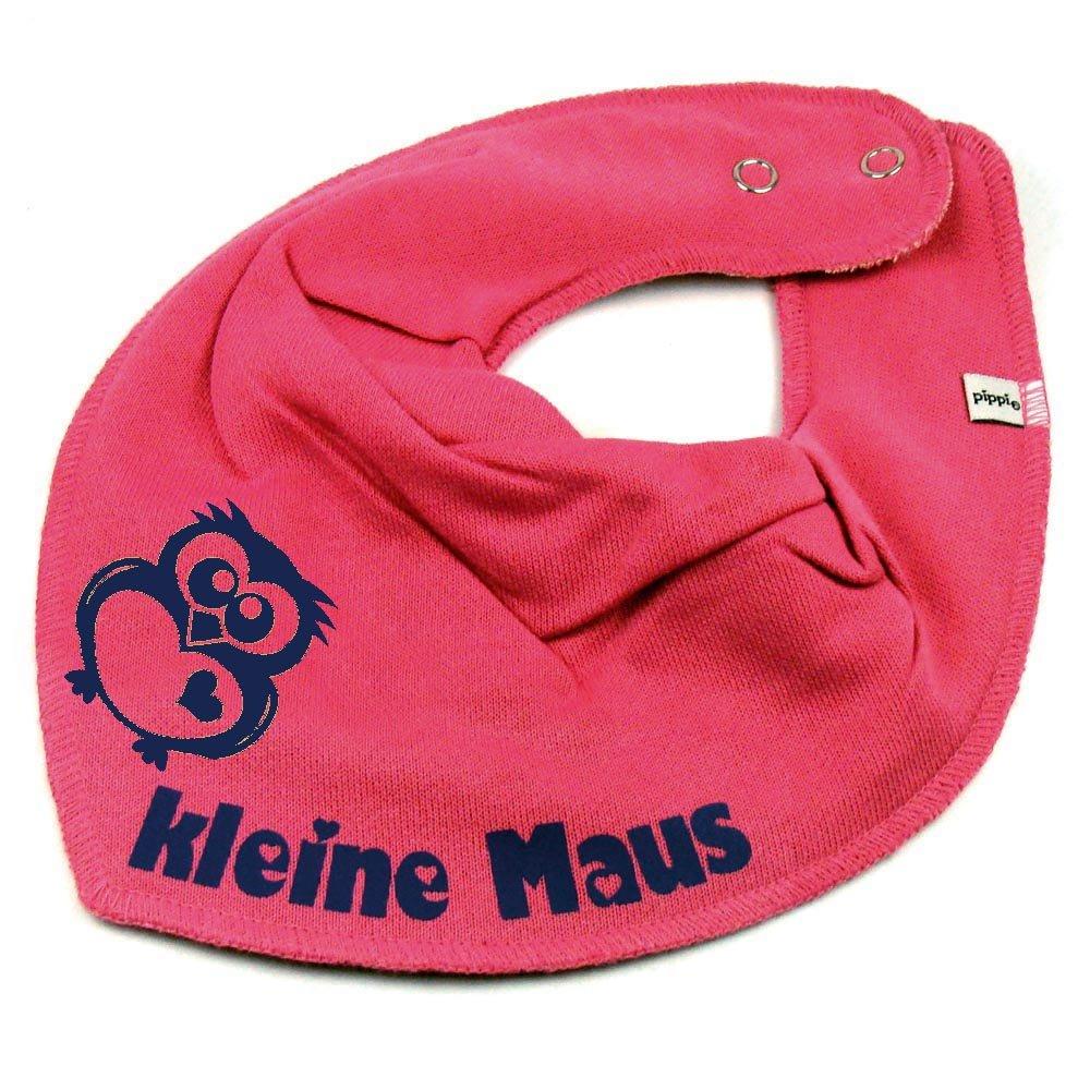 HALSTUCH Eule mit Namen oder Text personalisiert dunkelblau für Baby oder Kind Elefantasie