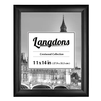 Amazoncom Langdons 11x14 Frame 1 Pack Solid Wood Black 11x14