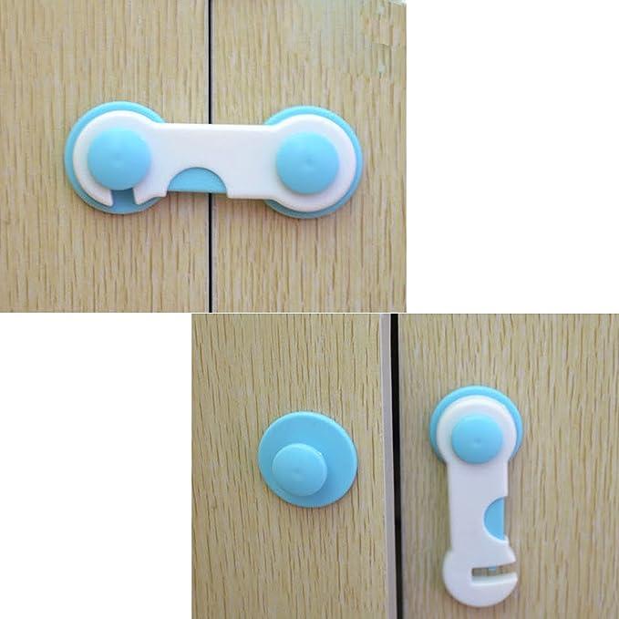 nissco 10 Pack niño seguridad armario locks- fácil de instalar ...