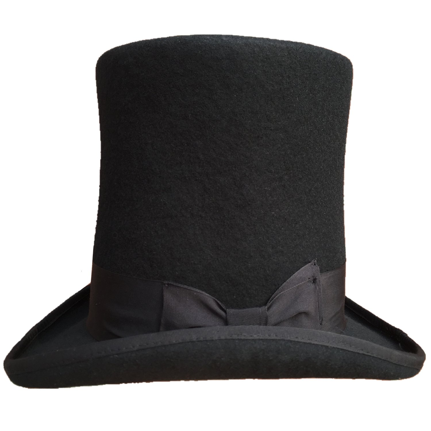 0410830a07d76 Amazon.com  Authentic Black Wool Felt Victorian Steampunk Extra Tall Top  Hats 9