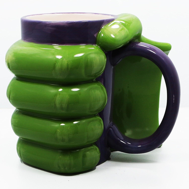 Amazon.com | The Incredible Hulk Green Oversized Jumbo Hand Mug ...