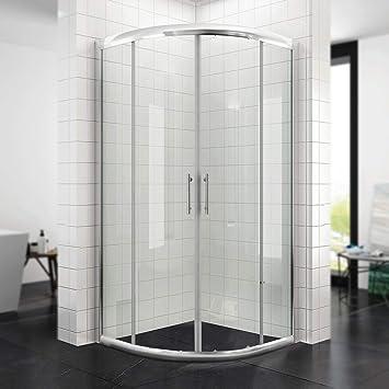 CUADRANTE Mampara de ducha con marco (Blanco/Negro) Radius 550 ...