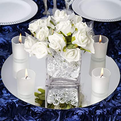 amazon com efavormart 14 round glass mirror wedding party table rh amazon com pictures of table centerpieces for christmas images of table centerpieces for weddings