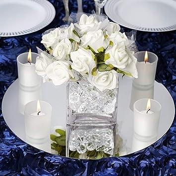 Amazon Efavormart 14 Round Glass Mirror Wedding Party Table