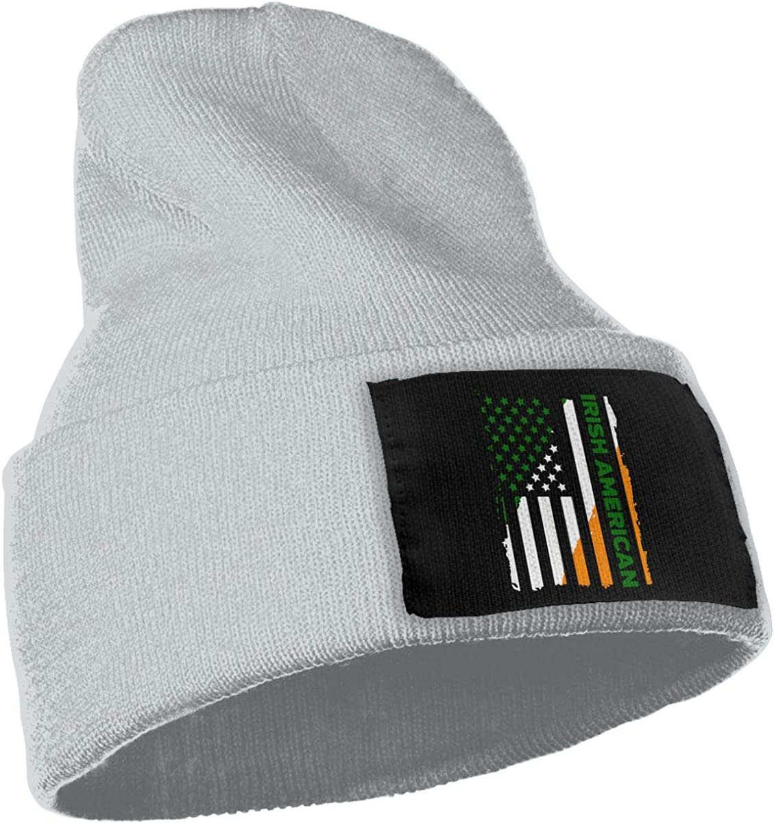 COLLJL-8 Unisex Irish American Outdoor Warm Knit Beanies Hat Soft Winter Knit Caps