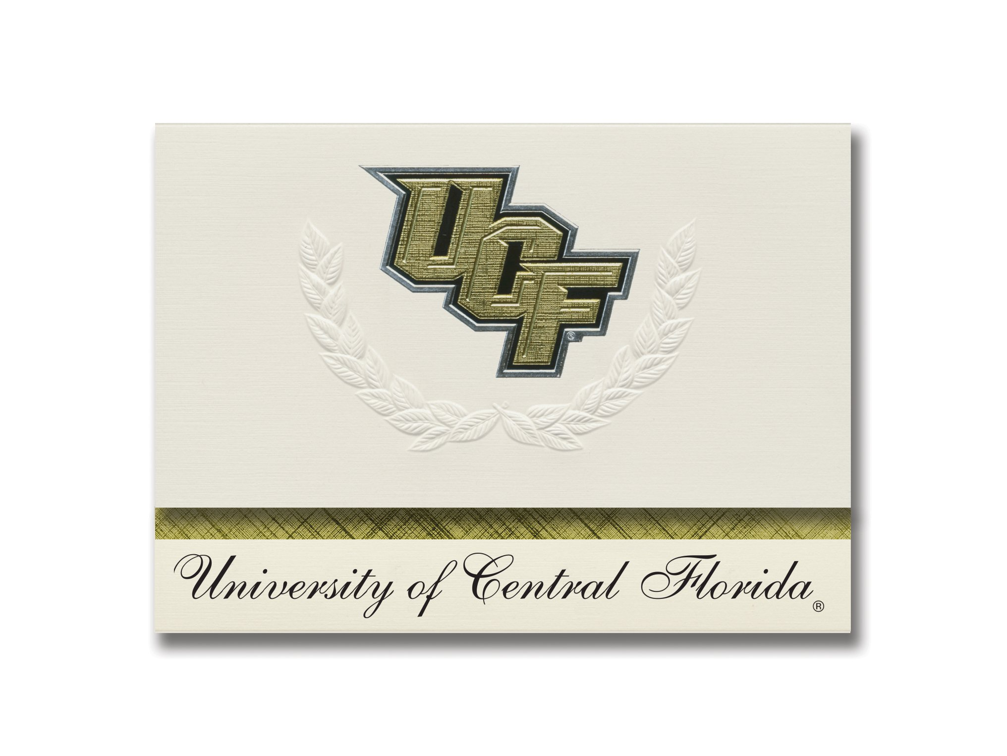 Signature Announcements University of Central Florida Graduation Announcements, Platinum style, Elite Pack 20 with U. of Central Florida Logo Foil