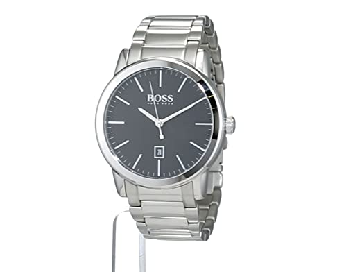 Amazon.com: Hugo Boss Classic Black Dial Stainless Steel Mens Watch 1513398: Hugo Boss: Watches
