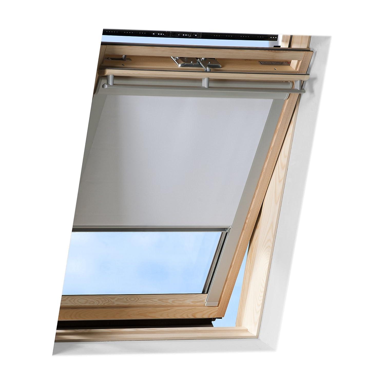 VICTORIA M Store Obscurcissant pour toit, compatible avec Velux GGL C04 - Store enroulant occultant avec revêtement thermique - beige