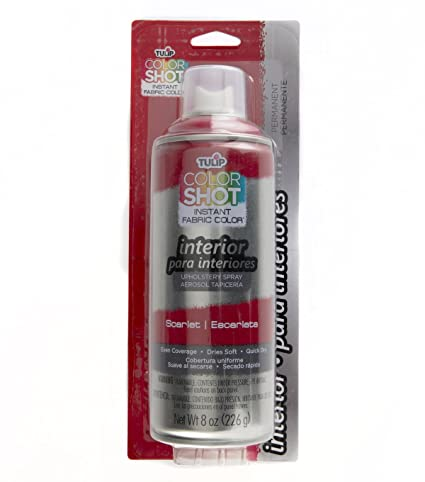 Amazon.com: Tulip ColorShot Instant Fabric Color Interior Upholstery Spray 8 oz - Scarlet