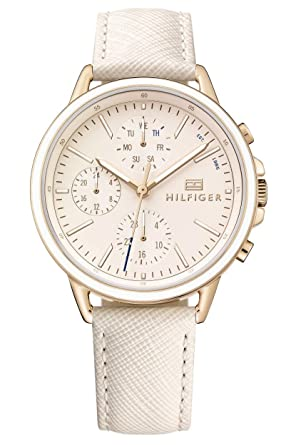 Tommy Hilfiger Reloj Multiesfera para Mujer de Cuarzo con Correa en Cuero 1781789: Amazon.es: Relojes