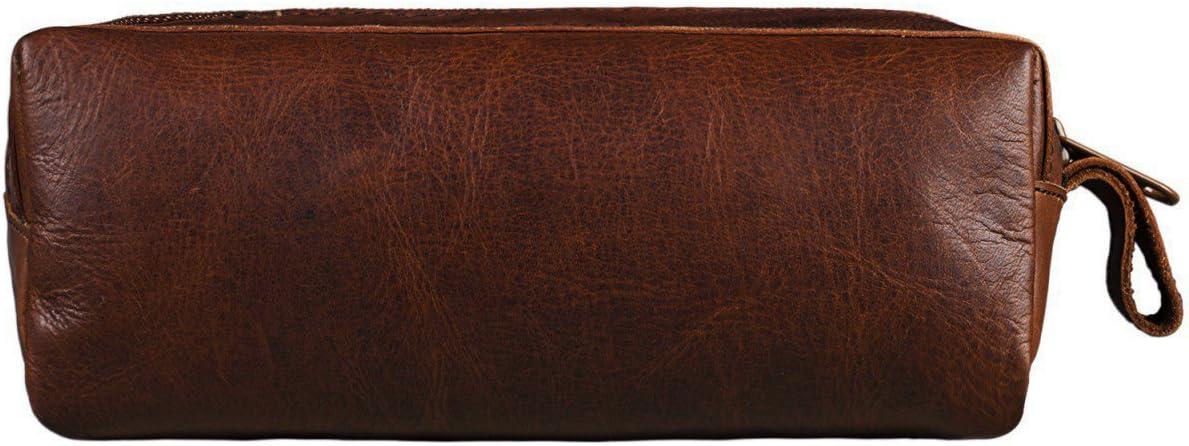 Marron STILORD Linus Trousse en Cuir Plumier Vintage Pochette pour Crayons /Étui Stylos Porte-Plume Scolaire Hommes et Femmes Couleur:Antique