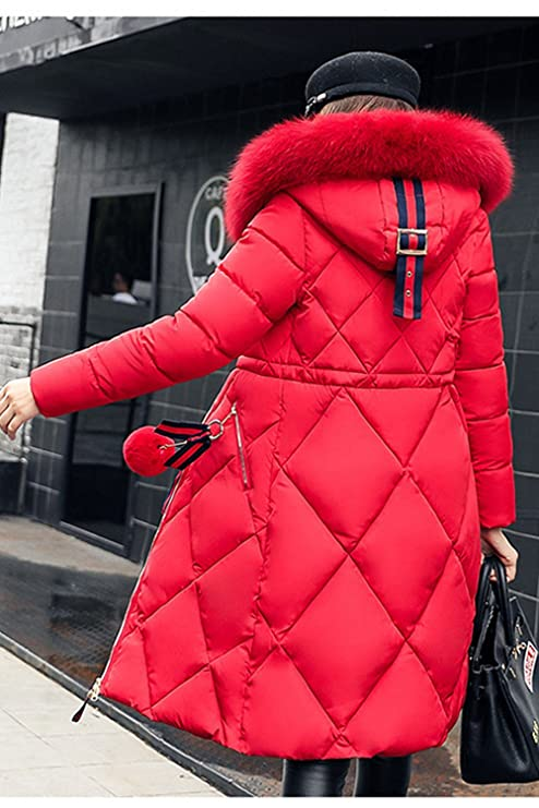 Amazon.com: Zilcremo Women Winter Elegant Warm Thicken Plaid Faux Fur Lined Hooded Parkas Puffer Coats Down Outerwear: Clothing