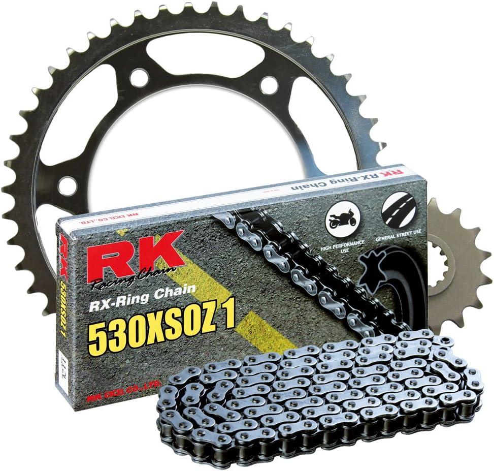 RK Racing Chain 2117-900W Steel Rear Sprocket and 530XSOZ1 Chain 20,000 Mile Warranty Kit