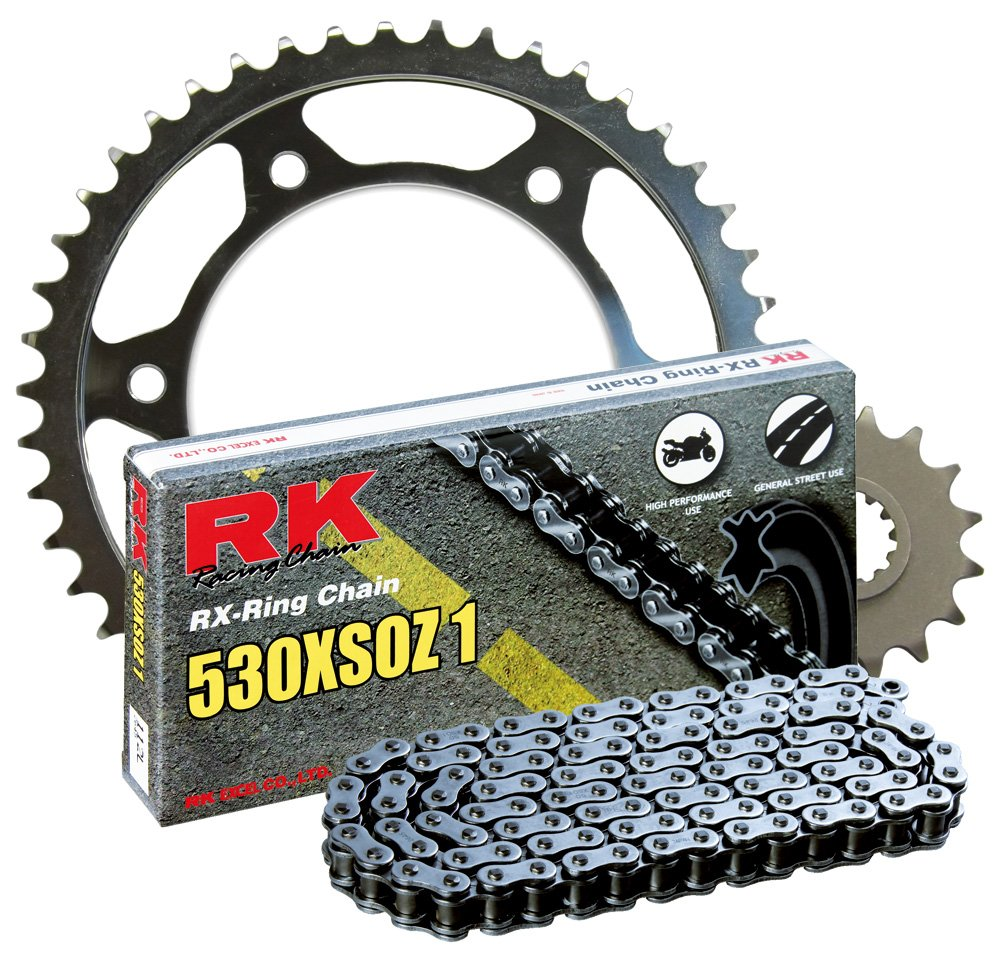 RK Racing Chain 4107-040W Steel Rear Sprocket and 530XSOZ1 Chain 20,000 Mile Warranty Kit