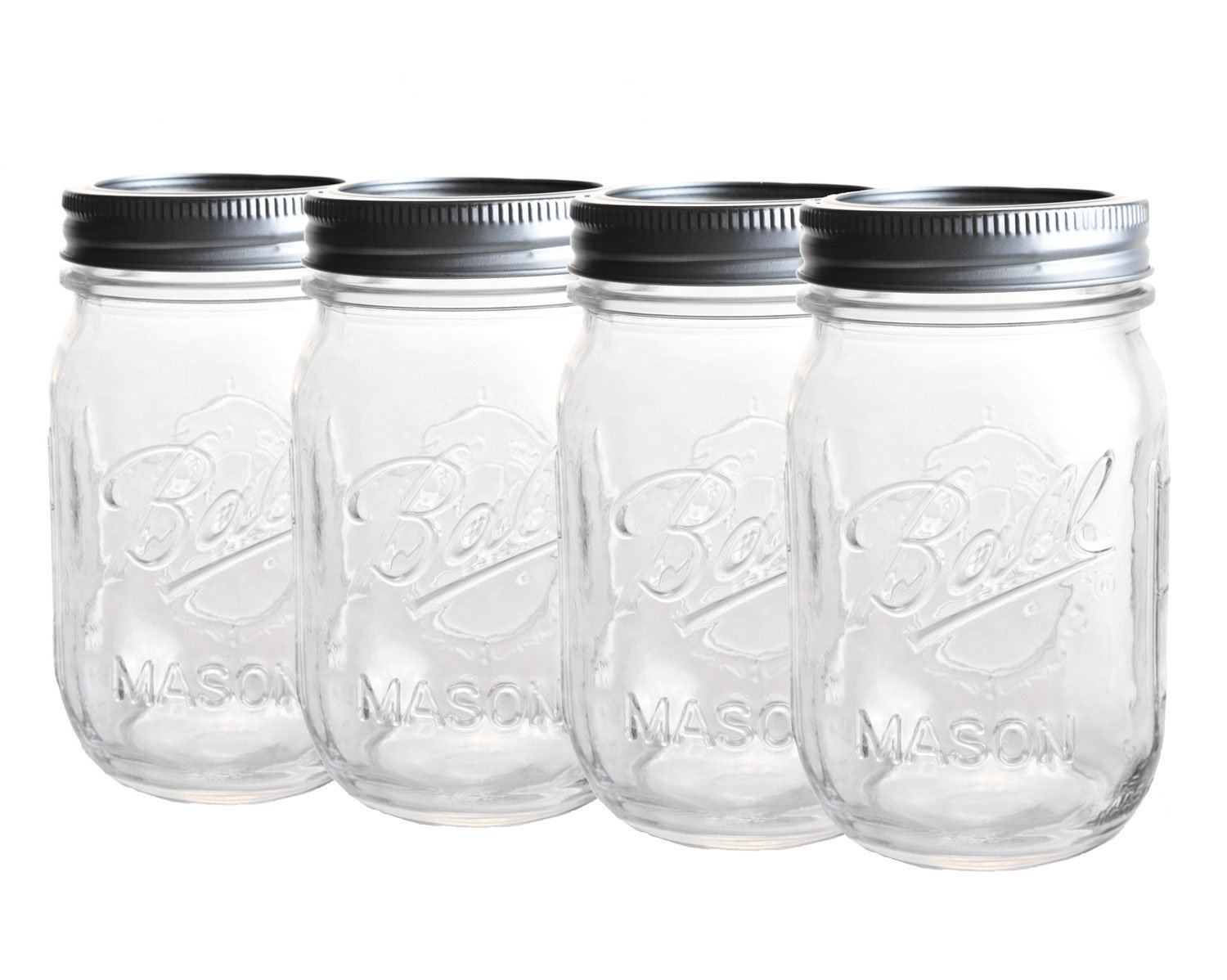 High Quality 4 X Original Ball Mason Jar   Ca. 0,5 Ml: Amazon.de: Küche U0026 Haushalt Amazing Ideas