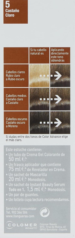 Llongueras Color Advance 5 Castaño Claro - 200 gr