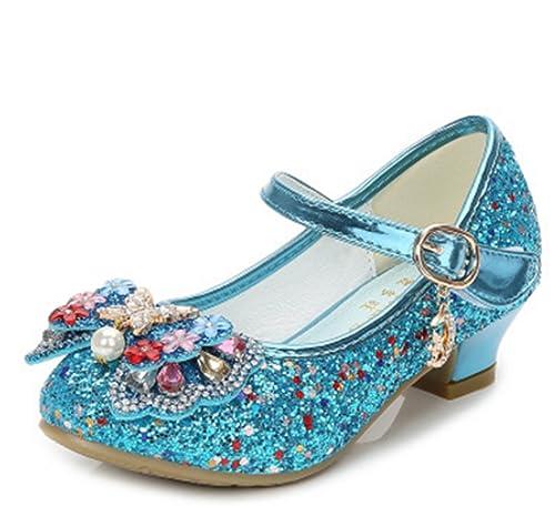 YOGLY Zapatos de Tacón de Niña Disfraz de Princesa Zapatos Brillar Lentejuelas  Zapatillas de Baile  Amazon.es  Zapatos y complementos af1dd7a5fa36