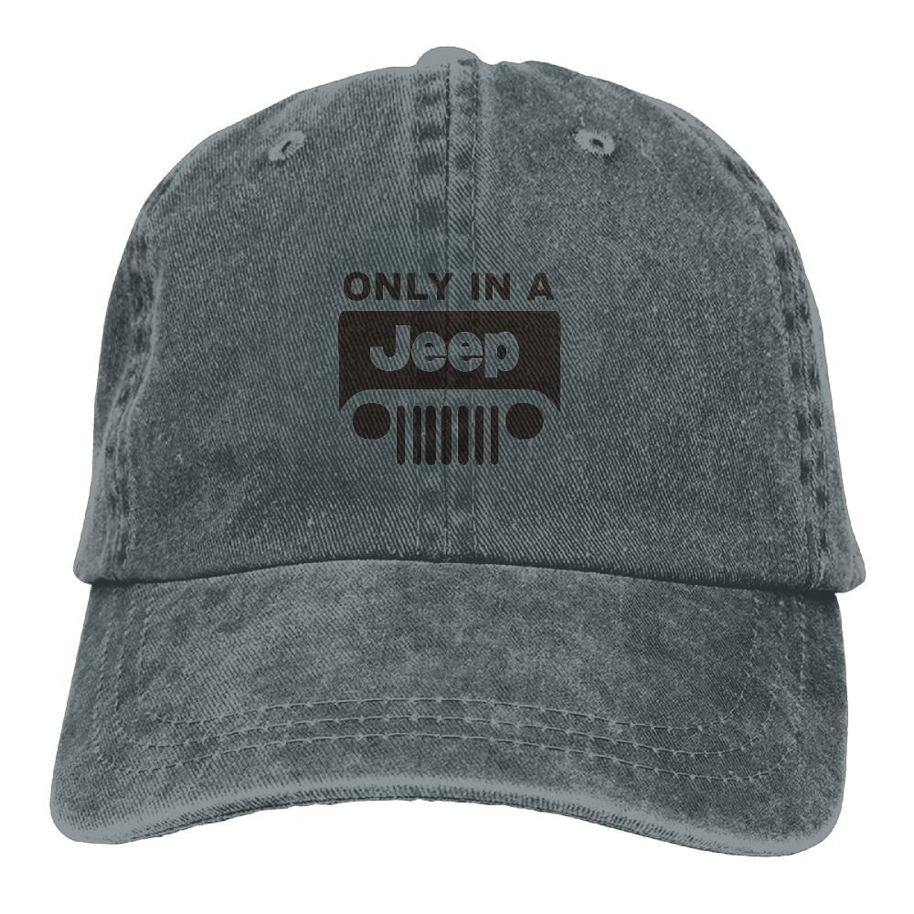 SumiDom Only in A Jeep Unisex Adult Baseball Cap Trucker Hat Cowboy Hat Hip Hop Sports Snapback