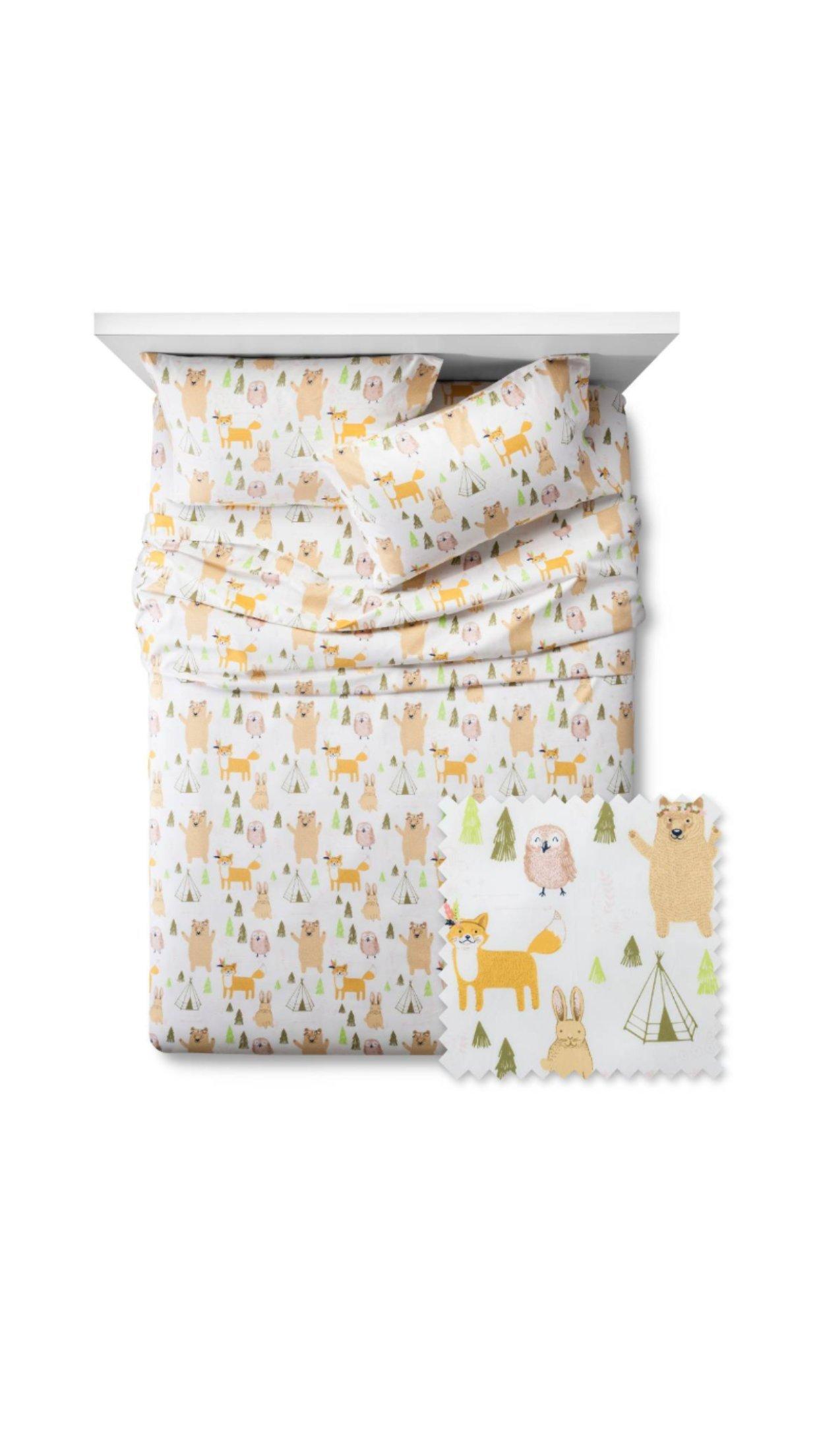 New Woodland Whimsy Sheet Set - PillowfortTM FULL