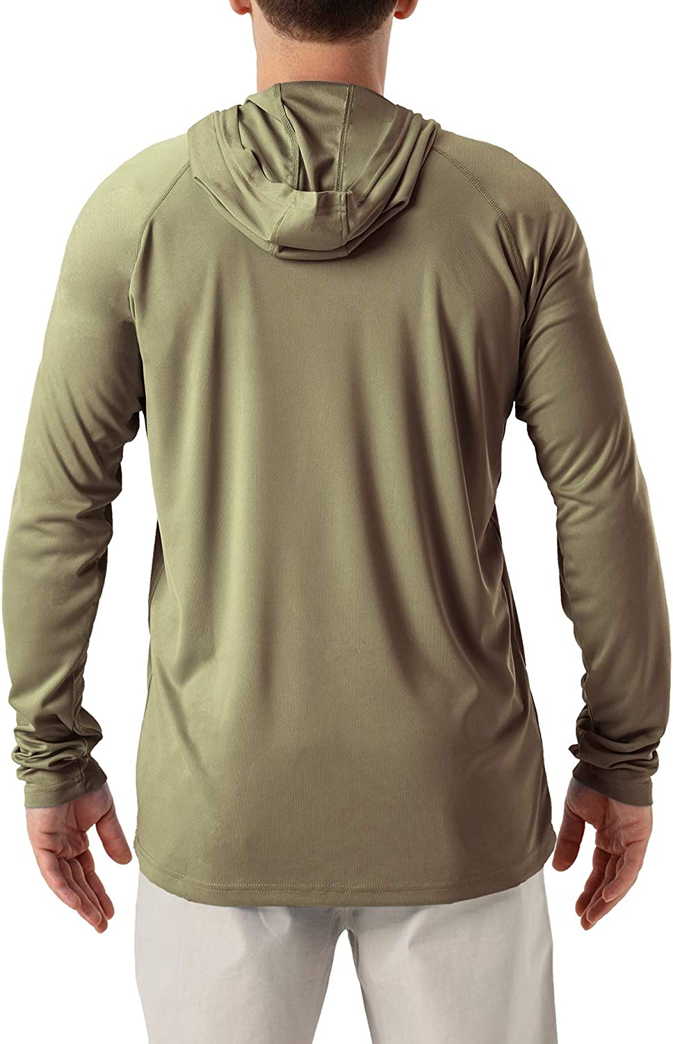 Mens UPF 50 UV Sun Protection Hoodie Long Sleeve Rash Guard Hiking Fishing Swim T Shirt