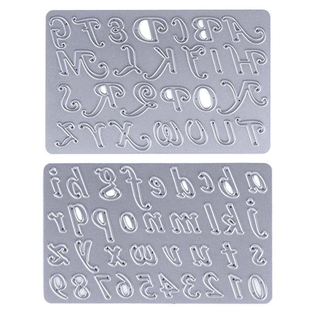 A-Z Alphabets Numbers Scrapbooking Cutting Dies for Card Making Chris.W Set of 2 Metal Stencils for Photo Album Decorative DIY Paper Gift Upper//Lower Case Letters//Numbers
