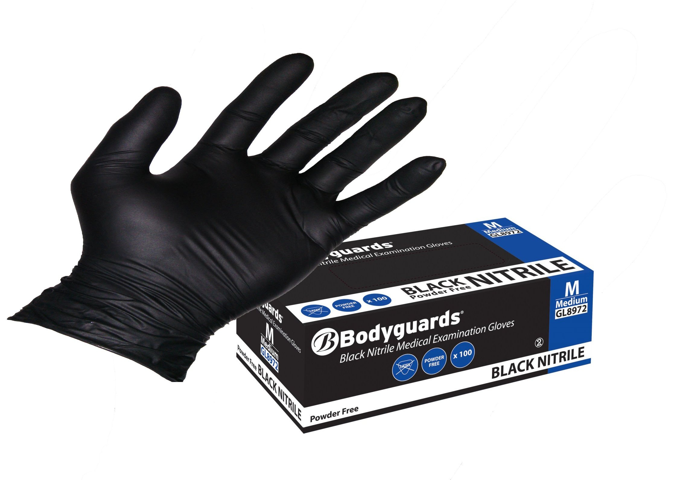 Unigloves Select Powder Free Black Latex Disposable Gloves by Unigloves Boxed x100 Extra Small