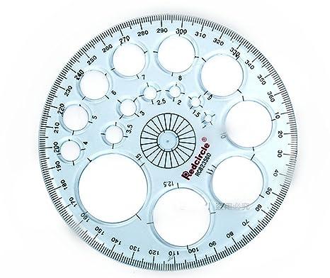 Koala Tools Ring Ruler 360 Degree Circular Ruler-inches