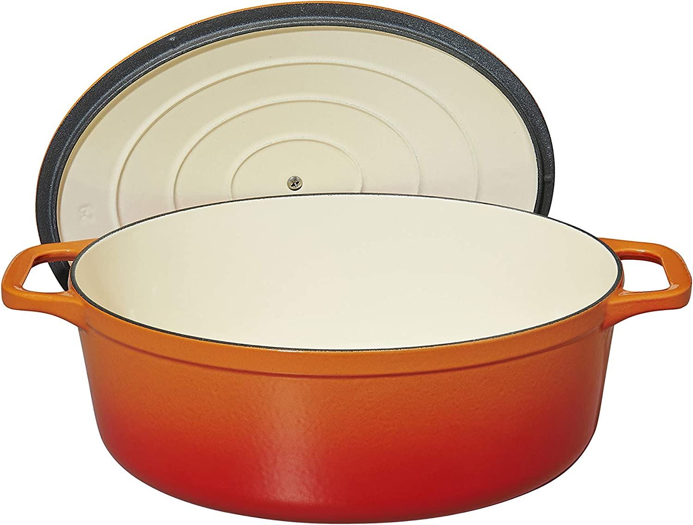 int/érieur Noir Mat 3.2 liters Chasseur 4725 ovale-25 cm Cocotte ovale