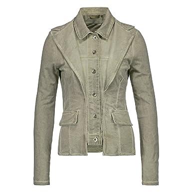 Farbe Salbei shoppen sie h4f damen vintage look sweat blazer jacke im lagen