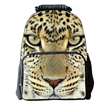 3032c9f5f18c4 Filz Stoff Schule Rucksack 3D Tier Print Cute Laptop Wandern Daypacks  Travel 40