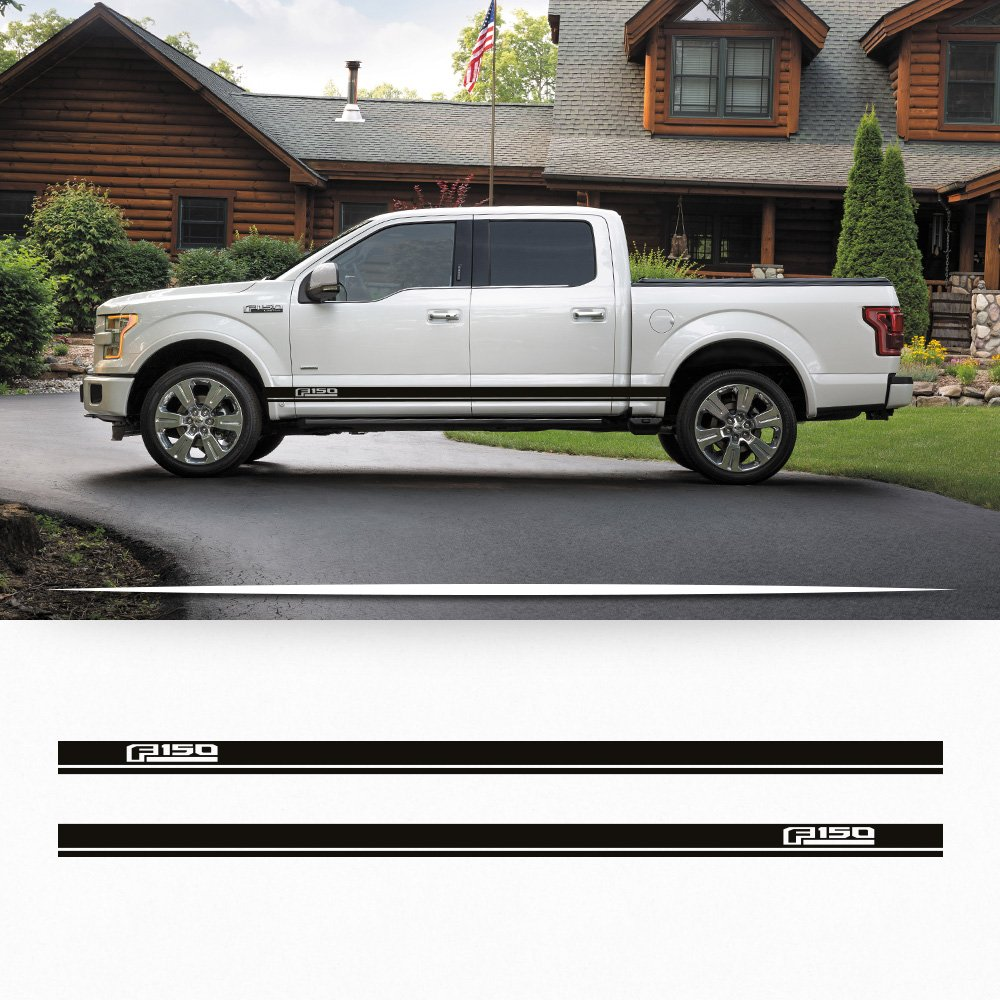 Amazon.com: Ford F150 2014-2016 side rocker stripe decal door graphics with F150 logo: Automotive