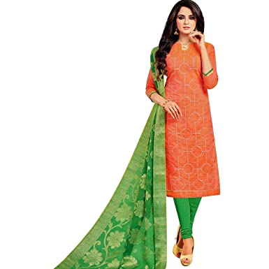 095f1ffadc Readymade Silk Embroidered Salwar Kameez with Banarasi Dupatta Womens  Indian Pakistani Dress Ready to wear Salwar Suit at Amazon Women's Clothing  store: